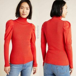 Anthropologie Cecilia Puff-Sleeved Turtleneck